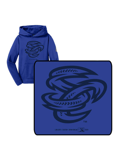 Omaha Storm Chasers Youth Royal SC Tonal Hoodie