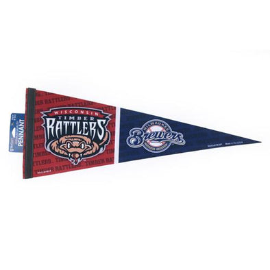Wisconsin Timber Rattlers Aff & Half Pennant