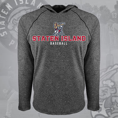 Staten Island Pizza Rats 108 Stitches Heather Grey Euro Raglan Chef Hoodie