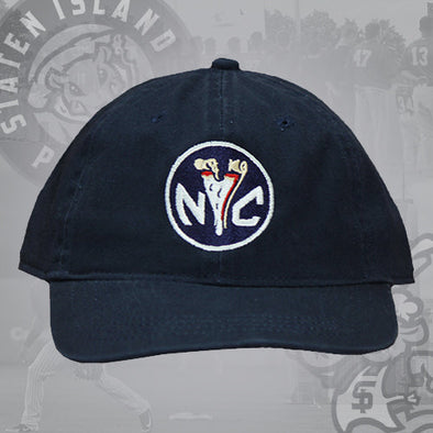 Staten Island Pizza Rats OC Sports Navy NYC Token Tuck Strap Adjustable Cap