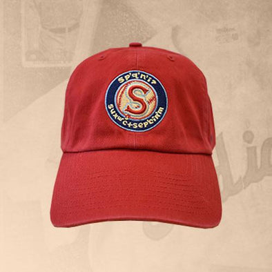 Spokane Indians Salish Logo Red Adj Cap
