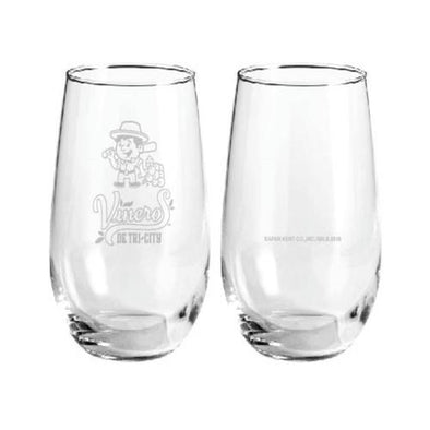 Tri-City Dust Devils Viñeros De Tri-City Wine Glass