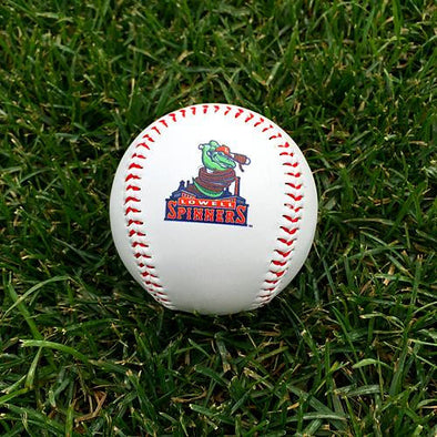 Lowell Spinners White Gator Logo Ball