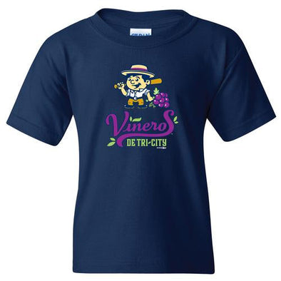 Tri-City Dust Devils Youth Viñeros De Tri-City Primary Logo T-Shirt