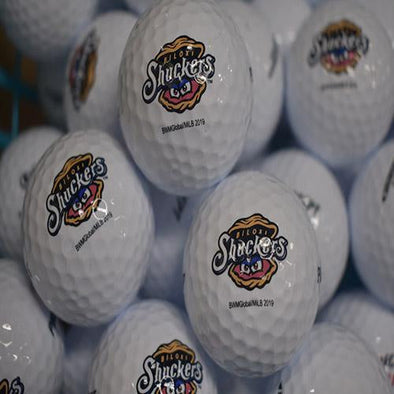 Biloxi Shuckers Ball-Golf with Primary Logo