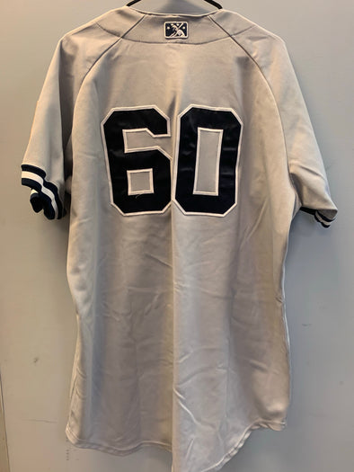 Staten Island Yankees Game Used Road Jersey #60 (Size 48) with George M. Steinbrenner Patch