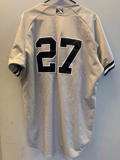 Staten Island Yankees Game Used Road Jersey #27 (Size 46) with George M. Steinbrenner Patch