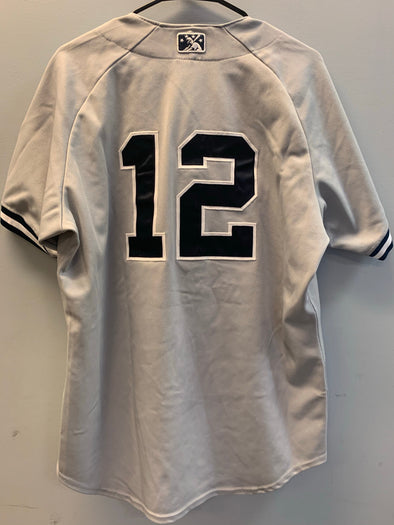 Staten Island Yankees Game Used Road Jersey #12 (Size 44) with George M. Steinbrenner Patch