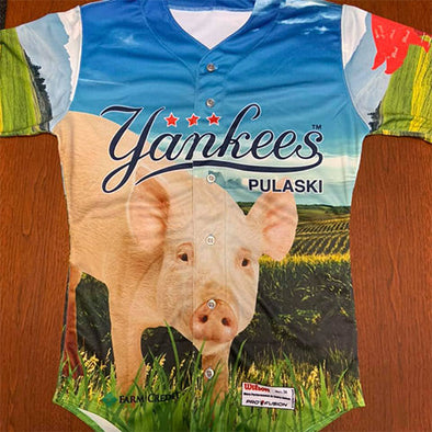 Pulaski Yankees 2020 Agriculture Night Jersey