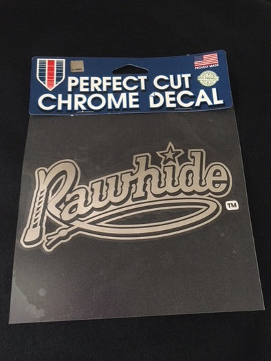 Visalia Rawhide Chrome Decal by WinCraft