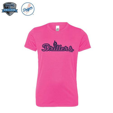 Tulsa Drillers Performance Tee Pink Youth