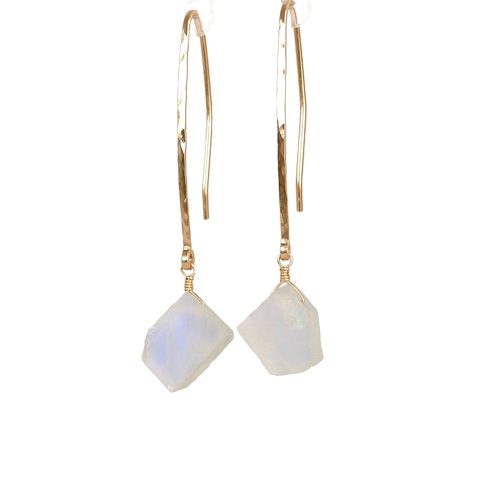 Raw Rainbow Moonstone Earrings - Boutique Baltique