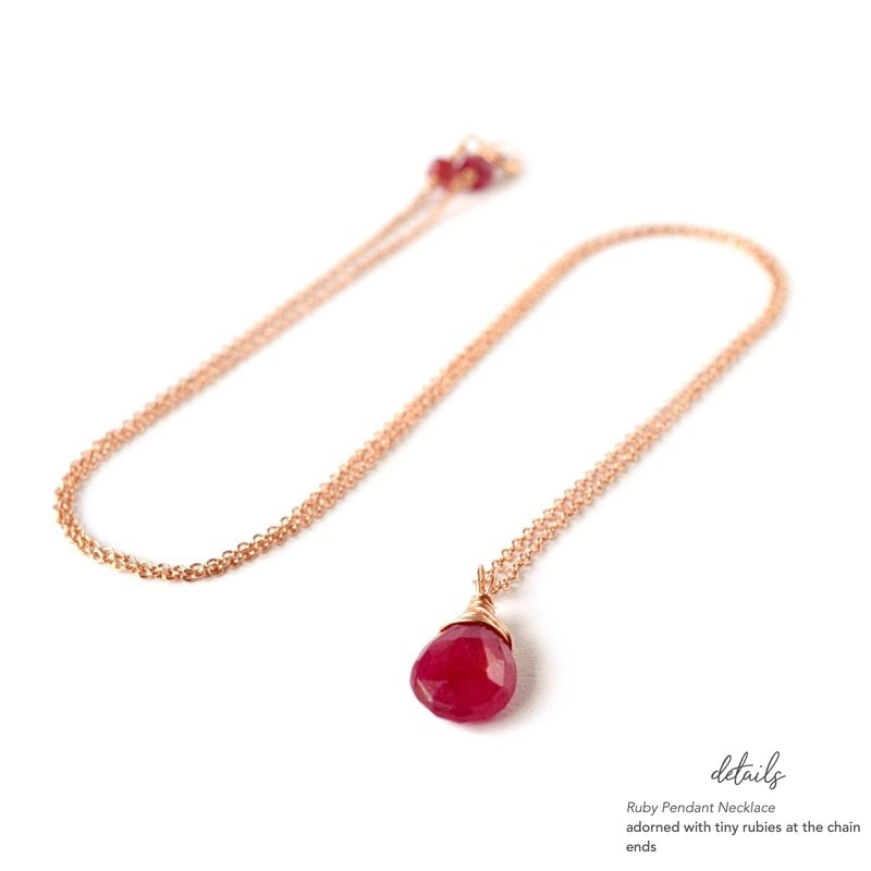Ruby Pendant Necklace - Boutique Baltique