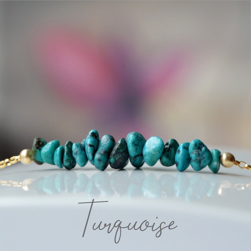 Raw Turquoise Bracelet, December Birthstone