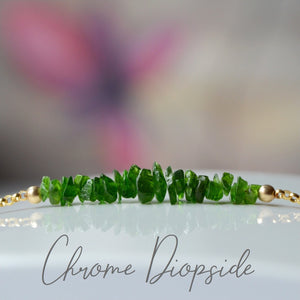Raw Chrome Diopside Bracele, Alternative May Brithstone