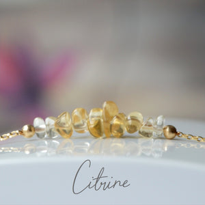 Raw Citrine Bracelet, November Birthstone