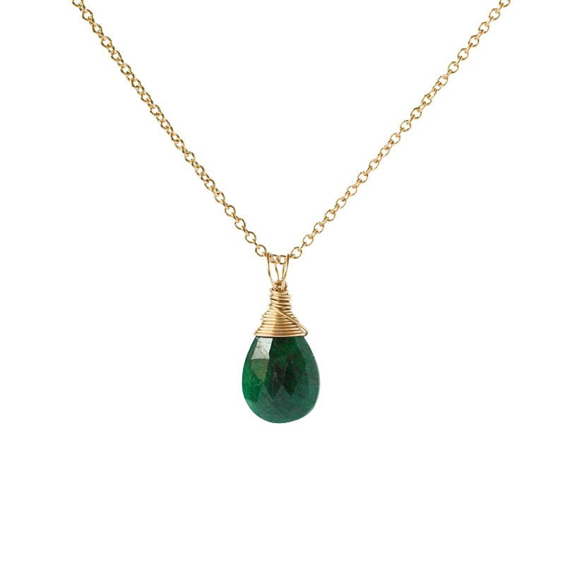 Emerald Pendant Necklace - Boutique Baltique