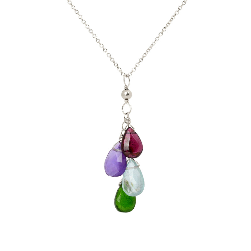Cascade Birthstone Necklace for Mom