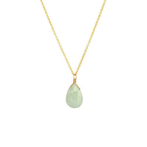 Milky Aquamarine Pendant Necklace