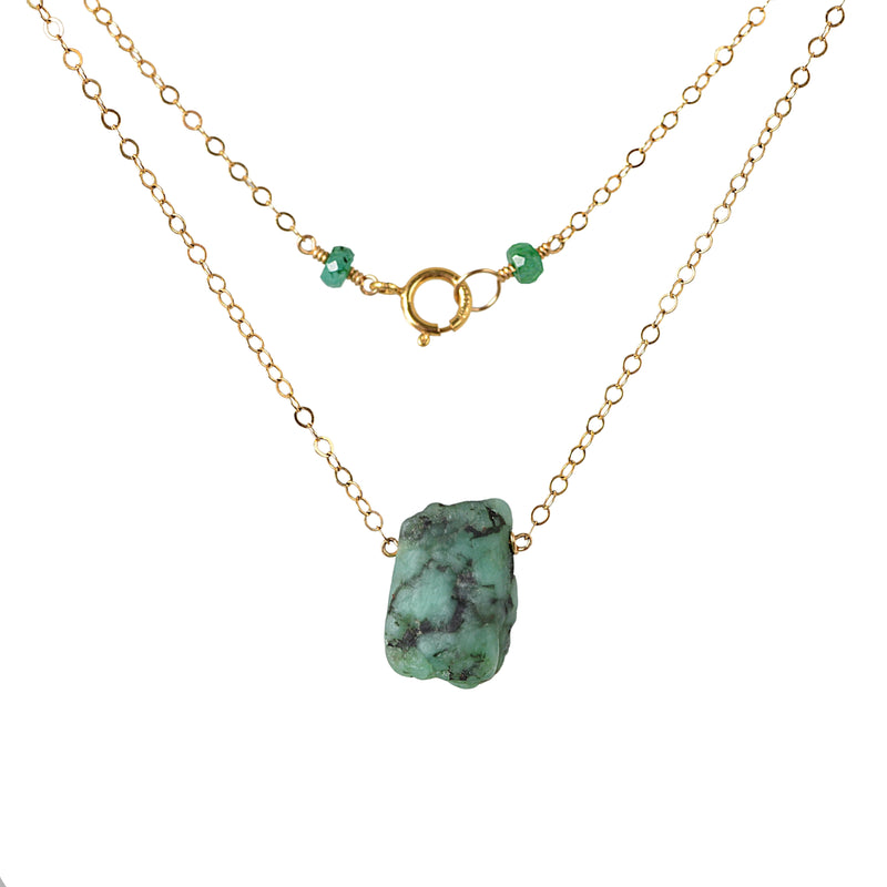 Raw Emerald Necklace - Boutique Baltique