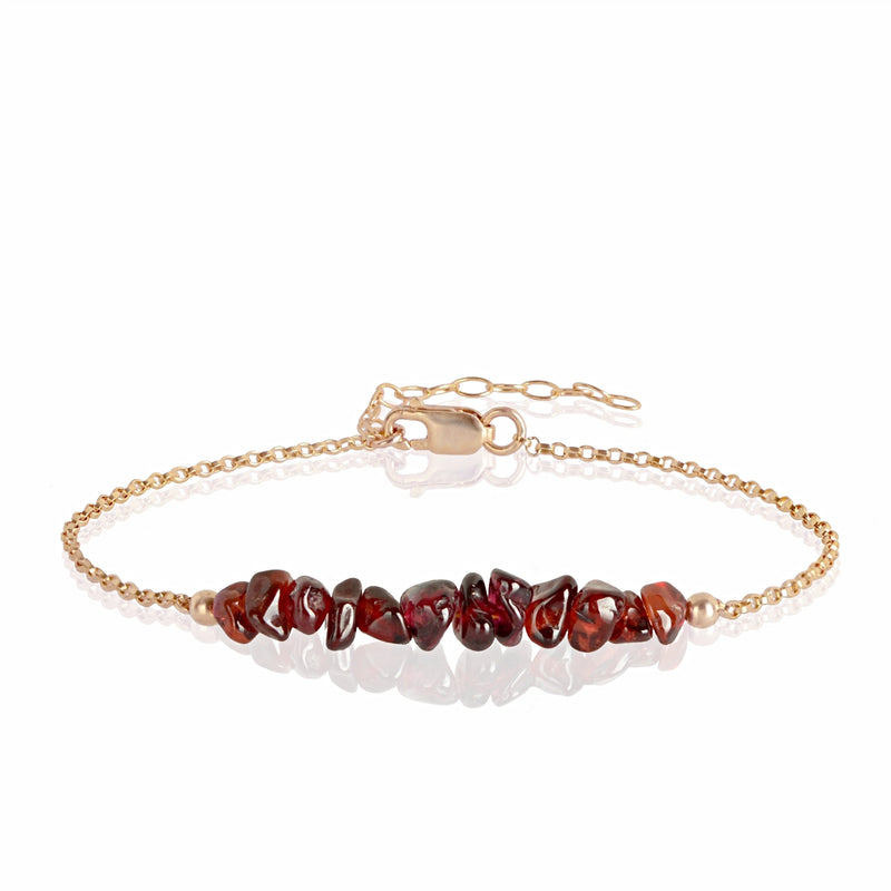Raw Garnet Bracelet in rose gold - Jewlery by Boutique Baltique