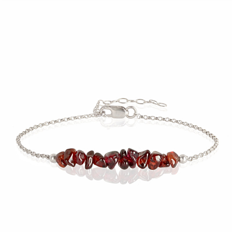 Raw Garnet Bracelet in sterling silver - Jewlery by Boutique Baltique