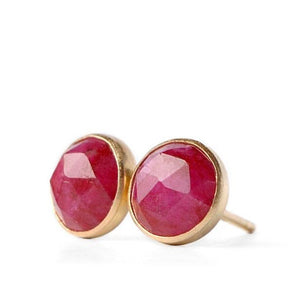 Ruby Stud Earrings - Boutique Baltique