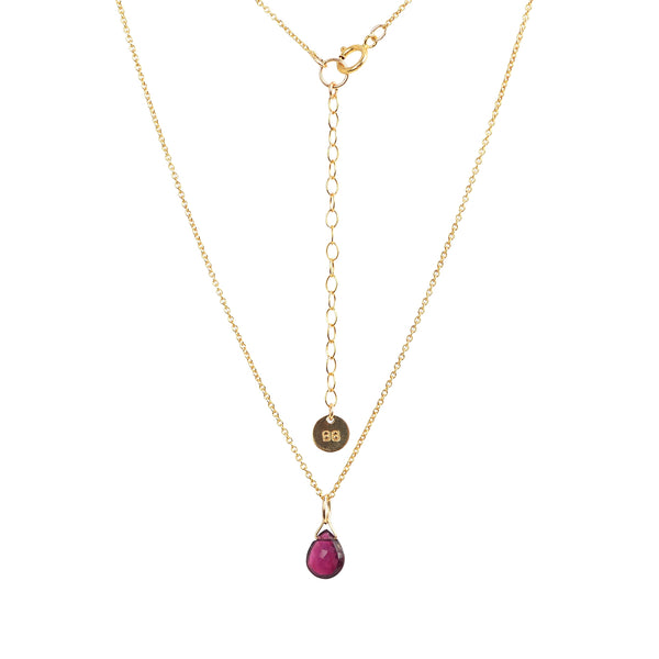 Rubellite Pink Tourmaline Pendant Necklace