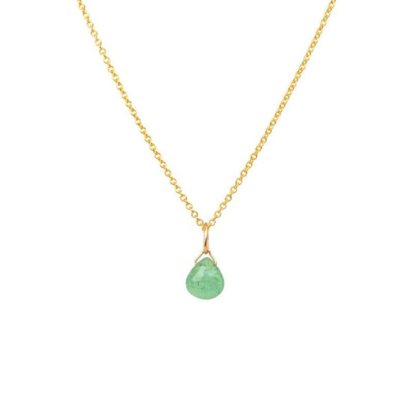 Zambian Emerald necklace May Birthstone
