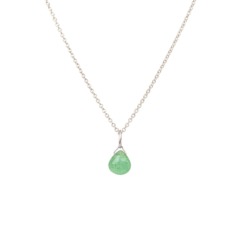 Zambian Emerald necklace in Silver