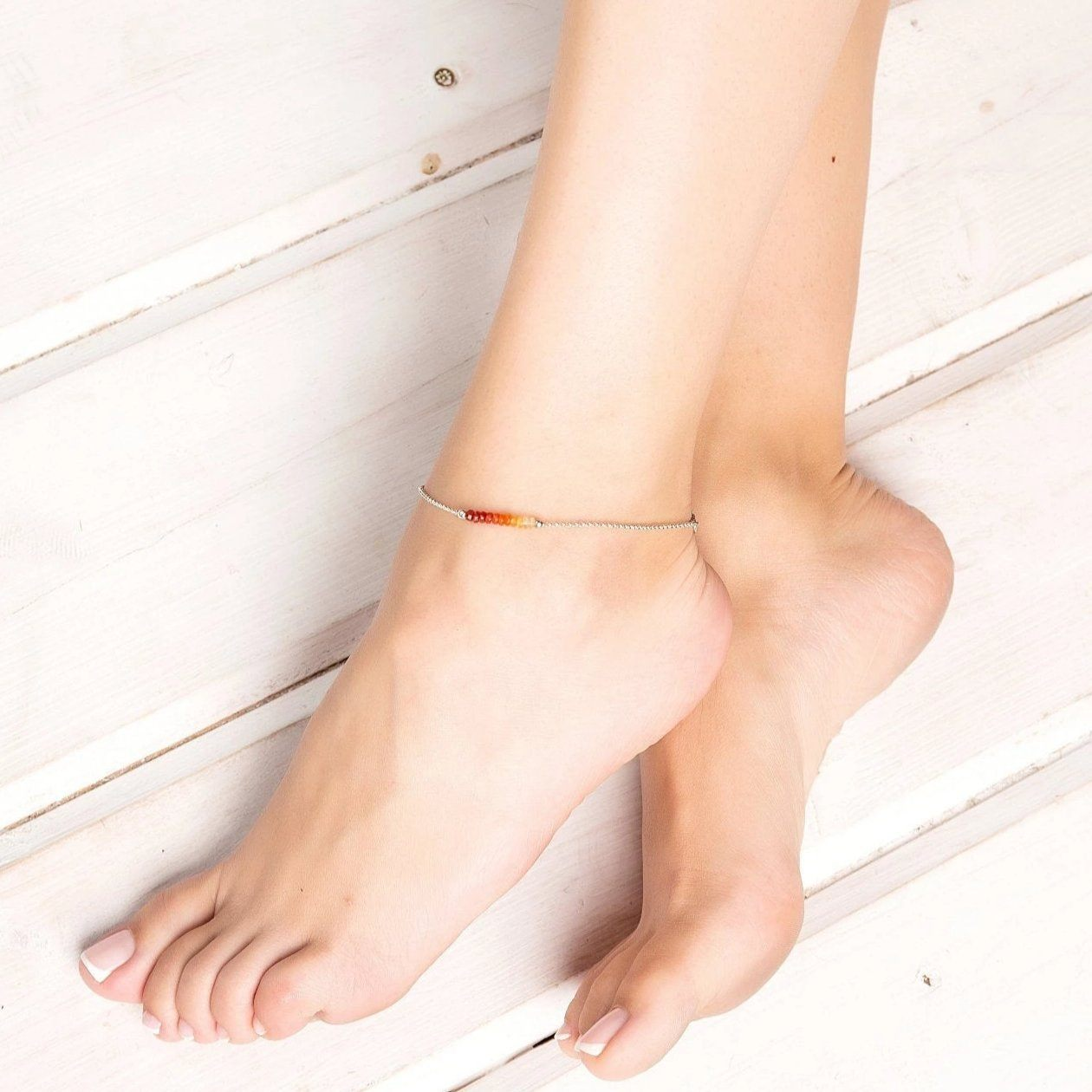 Mexican Fire Opal Anklet - Boutique Baltique