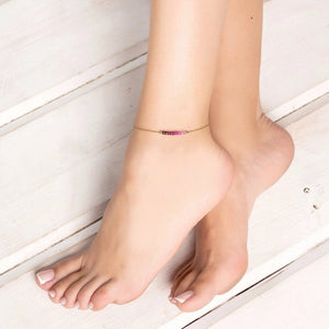 Ombre Ruby Anklet - Boutique Baltique