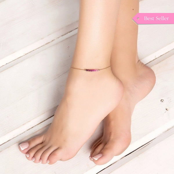 Ombre Ruby Anklet
