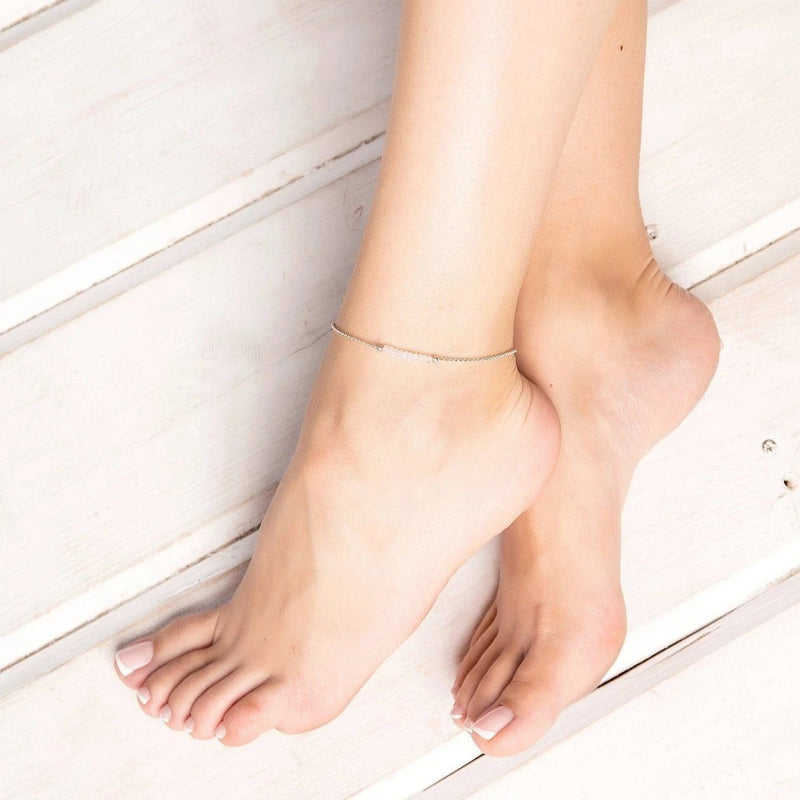 Rainbow Moonstone Anklet - Boutique Baltique