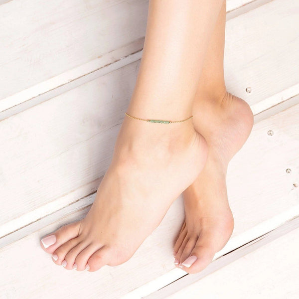 Zambian Emerald Anklet - Boutique Baltique