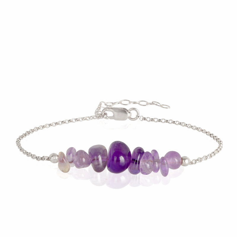 Raw Amethyst Bracelet in sterling silver - Jewlery by Boutique Baltique