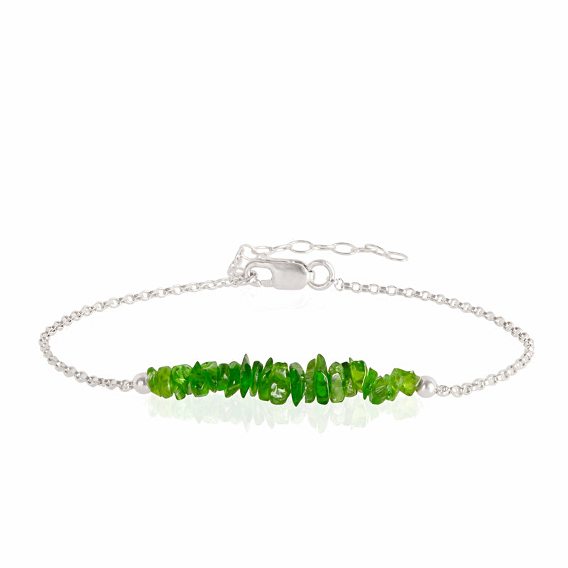 Raw Chrome Diopside Bracelet in sterling silver - Jewlery by Boutique Baltique