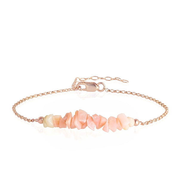 Raw Pink Opal Bracelet in rose gold - Jewlery by Boutique Baltique