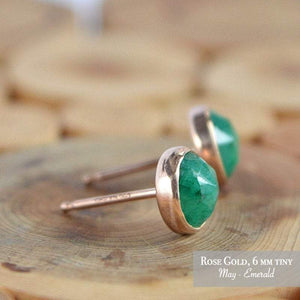Emerald Stud Earrings - Boutique Baltique