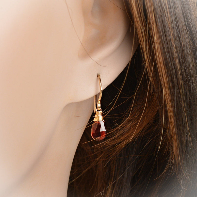 Mozambique Garnet Earrings Bella - Boutique Baltique