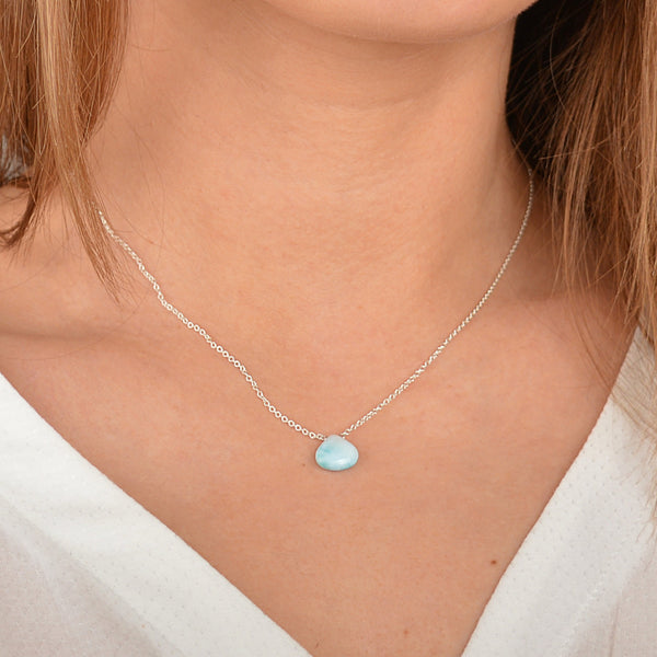 Dominican Larimar Necklace - Boutique Baltique