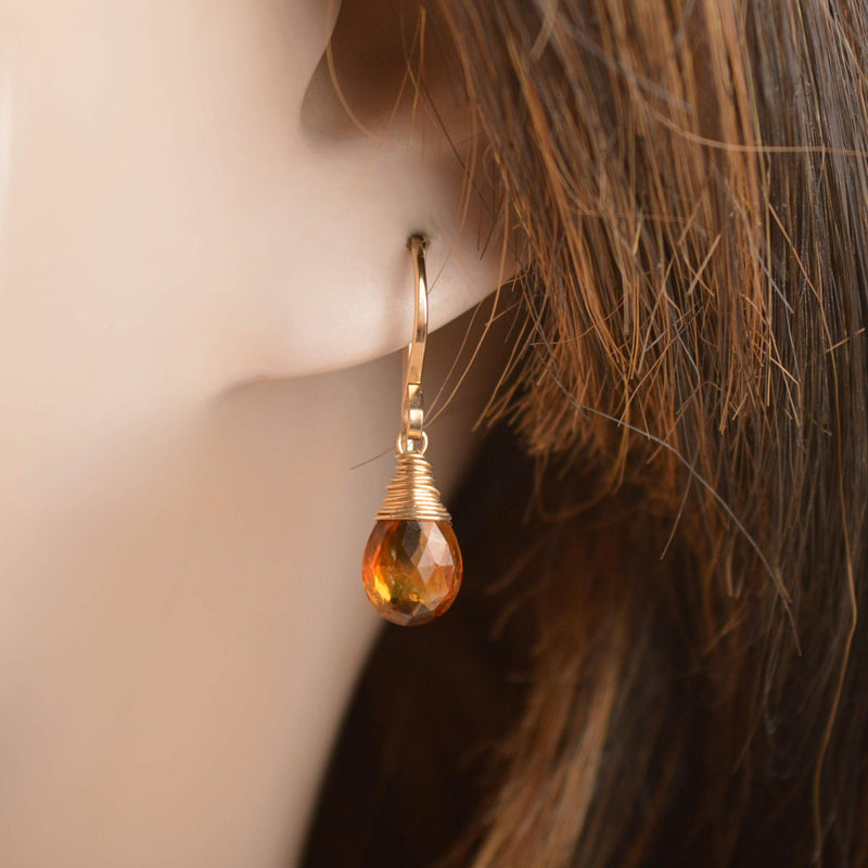 Brown Tourmaline - Dravite - Earrings - Boutique Baltique