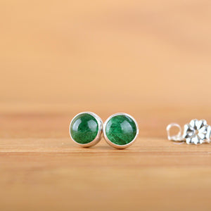 Green Aventurine Stud Earrings - Boutique Baltique