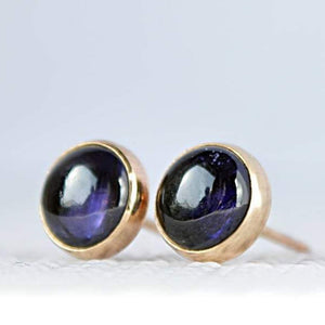 Iolite Stud Earrings - Water Sapphire - Boutique Baltique