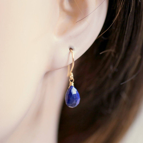 Blue Sapphire Earrings Bella - Boutique Baltique