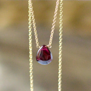Rhodolite Garnet Necklace - Boutique Baltique