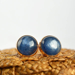 Blue Kyanite Stud Earrings - Boutique Baltique