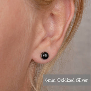 Black Onyx Stud Earrings - Boutique Baltique
