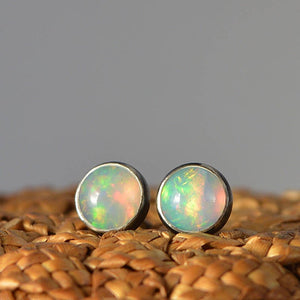 Ethiopian Opal Stud Earrings - Boutique Baltique