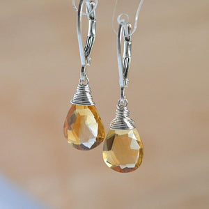 Citrine Earrings Bella - Boutique Baltique